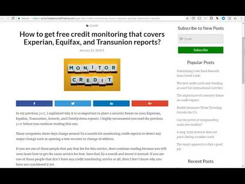 Learn more about free Credit Monitoring at HotPersonalFinance.com