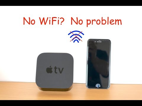 Stream to Apple TV without WiFi