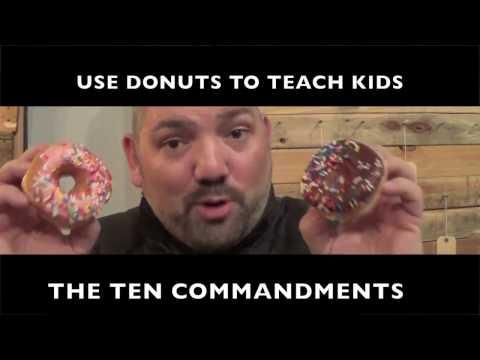 🍩🍩🍩 Teaching the TEN Commandments using a box of Krispy Kremes