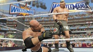 Wrestlemania 33 - Brock Lesnar vs Goldberg WWE Universal Title Match! (WWE 2K17)