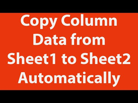 Copy Column Data from Excel Sheet1 to Sheet2 Automatically Using VBA