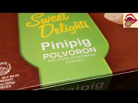 Trying Pinipig Polvoron