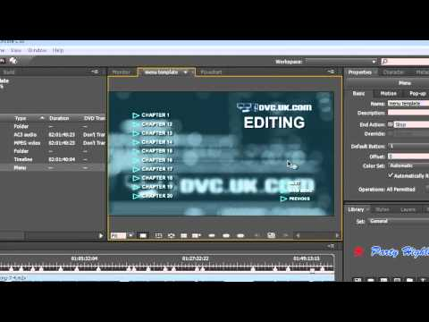 Using the chapter Index in Adobe Encore CS5 to make menus