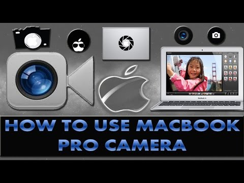 How to use macbook pro camera to take pictures with effects?