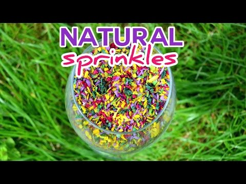 Natural Organic Sprinkles Recipe - Healthy, sugar free, gluten free, chemical free and vegan