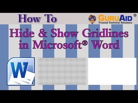 How to Hide & Show Gridlines in Microsoft® Word - GuruAid
