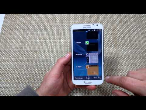 Samsung Galaxy Note 2 How to close recent or background apps
