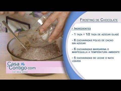 Como Hacer el Frosting Chocolate, Receta y Elaboracion