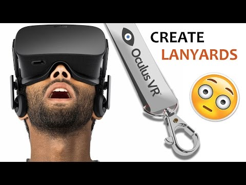 Custom printed lanyards online - How to design an Oculus lanyard