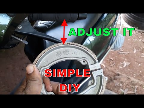 HOW TO ADJUST SCOOTER'S BRAKE