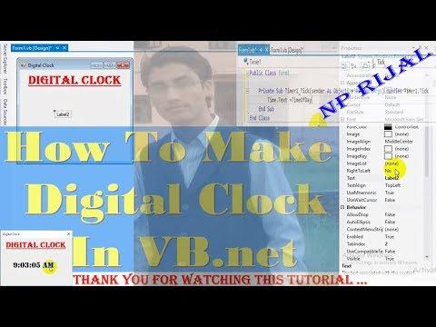 Visual Basic Tutorials | How To Make Digital Clock In VB NET By NP Rijal (Nepali)