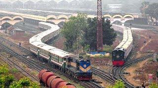 Ekota Express: Luxurious Train of Bangladesh Railway Leaving Dhaka Railway station