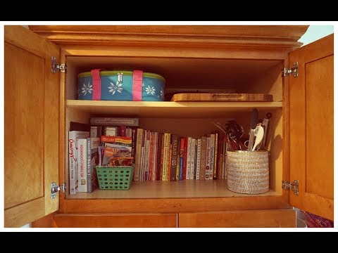 Organize with Me   Kitchen Cabinet   Cookbooks