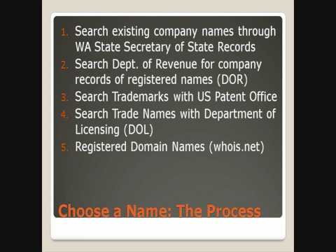 Starting and Operating a Business in WA State Part4