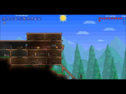 Terraria guide: how to build a bed and set spawn point