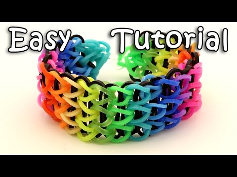 How To Make A Triple Single Rainbow Loom Bracelet - Step By Step Tutorial