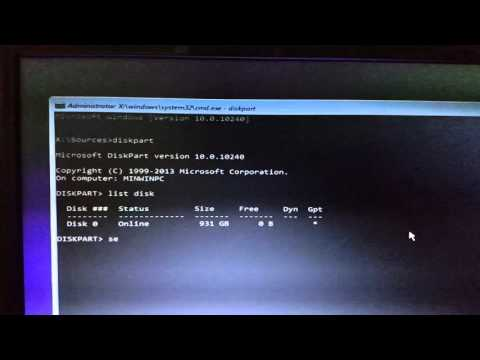 Covert GPT to MBR to install windows 7/8/10