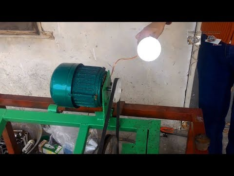 How to Convert AC Induction Motor into Permanent Magnet AC Alternator Very Easy