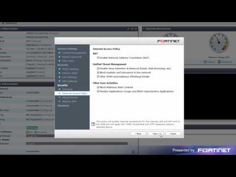 FortiGate Quick Start Guide ( Wizard Configuration )
