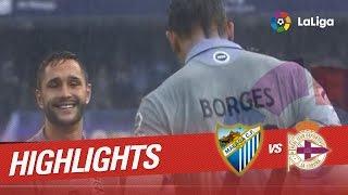 Resumen de Málaga CF vs Deportivo de la Coruña (4-3)