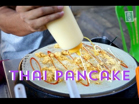 Thai Street Food: Thai Pancake - with Nutella and Coconut