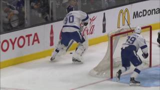 Clifford strips puck off Bishop for easy goal