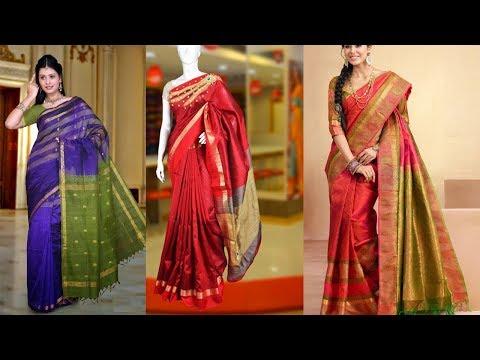 Latest New Designs Light Weight Kanchipuram Silk Saree - She Fashion