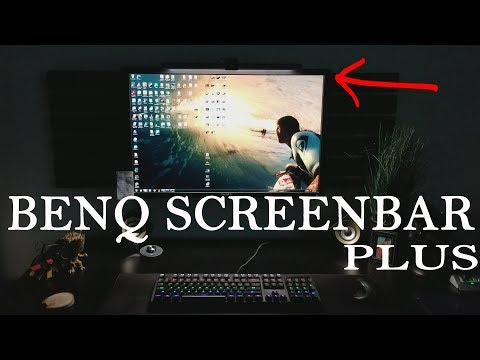 BenQ ScreenBar PLUS Computer e-Reading Light Must Have For Office, Dorm, Gaming Setup Review!
