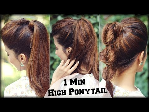 3 EASY Everyday High Ponytail Hairstyles With Puff for School, College, Work/ Summer Hairstyles