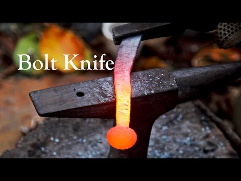 Forging a Knife From a Bolt