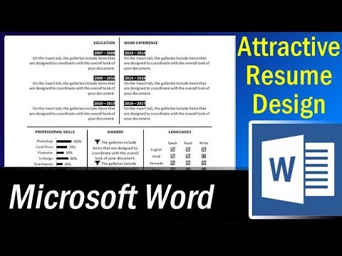 How to make an attractive single page resume in MS Word - Resume Format 1