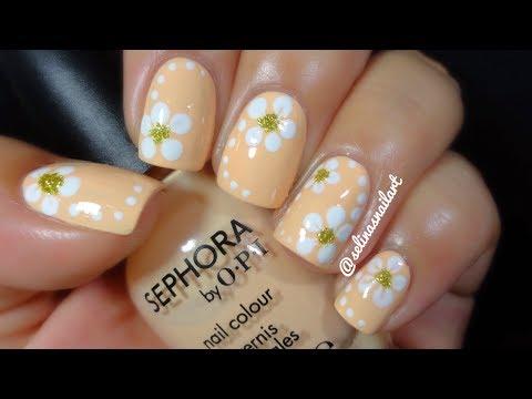 Quick & Easy Flower Nail Art Tutorial   Selina's Nail Art
