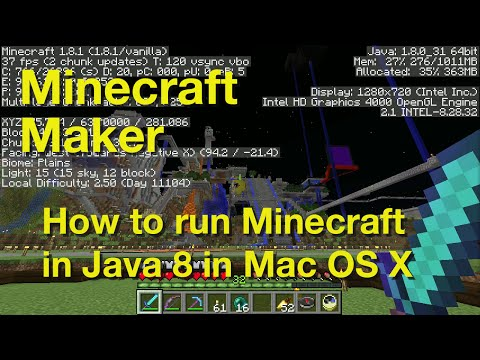 How To Run Minecraft In Java 8 On Mac OS X