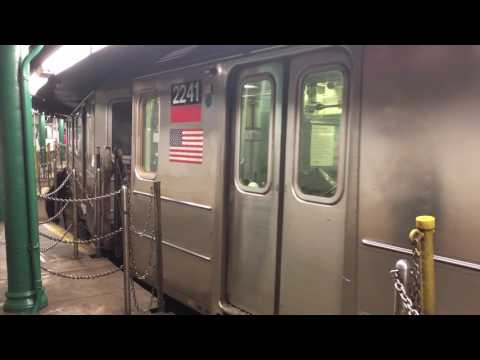 IRT Broadway-7th Ave Line: R62A (1) and [NIS R142 (2) Bypass] Train Action at the South Ferry Loop