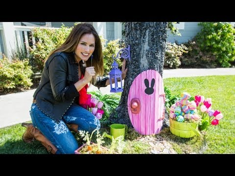 Home & Family - How to Make an Easter Bunny Door Decorations