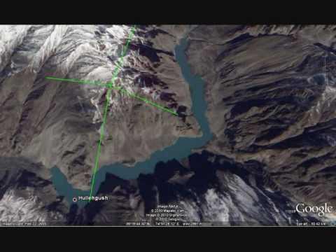 Hunza landslide lake formation - Google Earth Historical Imagery