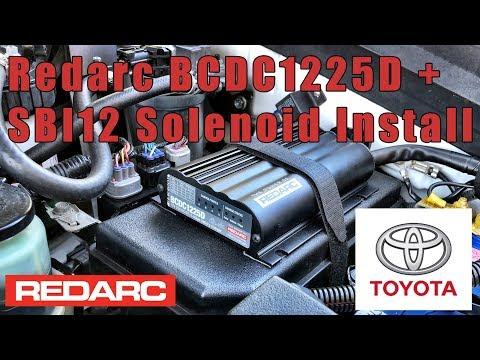 Redarc BCDC 1225D and SBI12 solenoid install in Prado 150