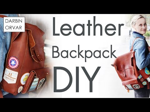 Making a Leather Backpack - Fjällräven Style