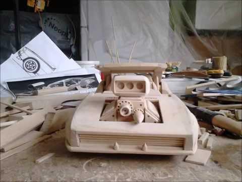 chevrolet camaro ss custom 1968 wooden build model  car