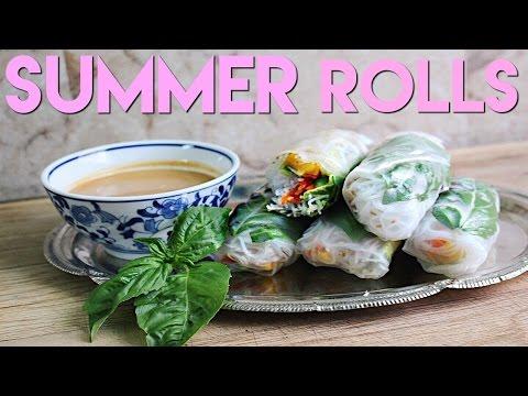 Vietnamese Summer Rolls + Asian Peanut Dipping Sauce