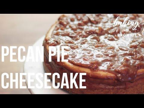 HOW TO MAKE PECAN PIE CHEESCAKE (Recipe in Bio)