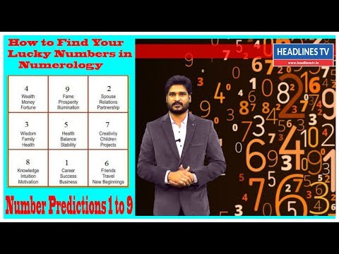 How to Find Your Lucky Numbers in Numerology |Number Predictions 1 to 9#HEADLINESTV