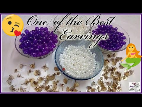 #160 How To Make Pearl Beaded Earrings    Diy    Jewellery Making    Jhumka Making