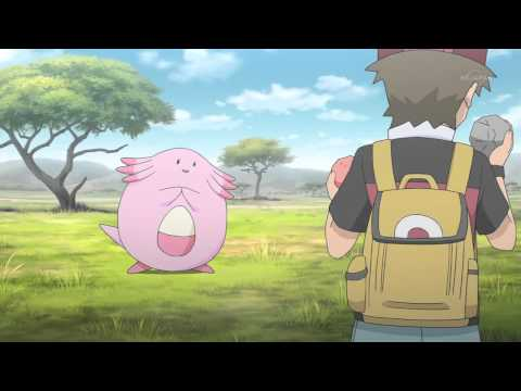 Red catching Chansey