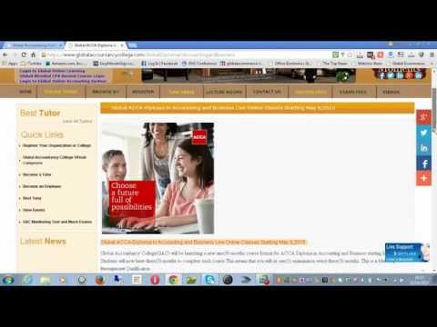 Global ACCA-Diploma in Accounting and Business Live Online Classes