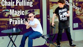 Public Chair Pulling Magic Prank!