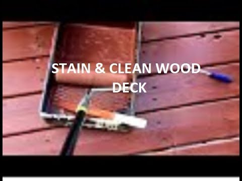 How to clean & stain a treated wood deck