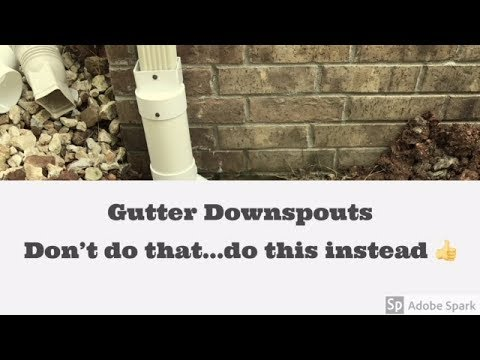 Downspout drainage System - 2 Mistakes -