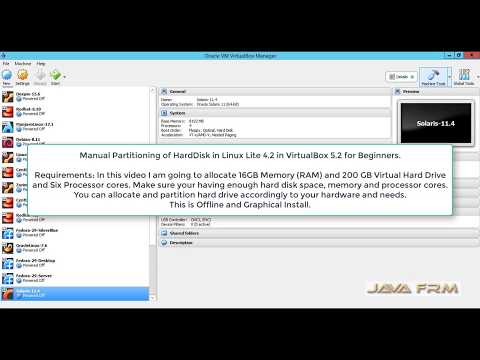 Manual Partitioning of HardDisk in Linux Lite 4.2 in VirtualBox 5.2 for Beginners