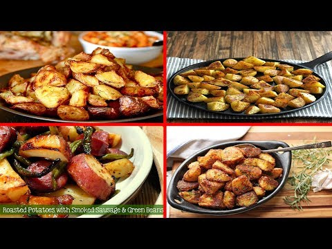 4 Roasted Potato Recipes | How to Baked potatoes in Microwave